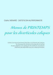 Livre de menus diététiques de printemps pour les diverticules coliques