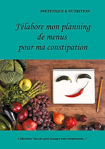 Livre de planning de menus vierge pour la constipation