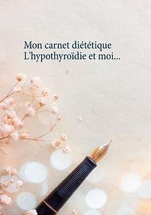 Journal diététique vierge pour l'hypothyroïdie