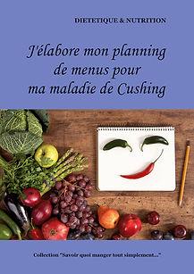 Livre de planning de menus vierge pour la maladie de Cushing