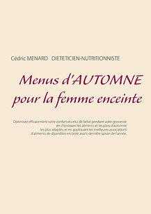 Livre de menus diététiques d'automne pour la femme enceinte