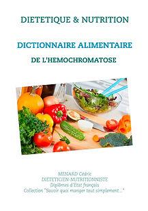 Livre dictionnaire alimentaire pour l'hémochromatose