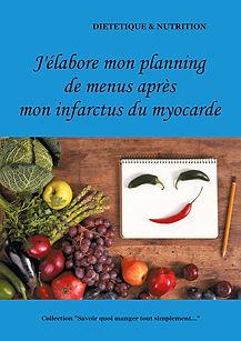 Livre de planning de menus vierge pour l'infarctus du myocarde