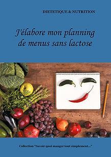 Livre de planning de menus vierge sans lactose