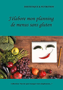 Livre de planning de menus vierge sans gluten