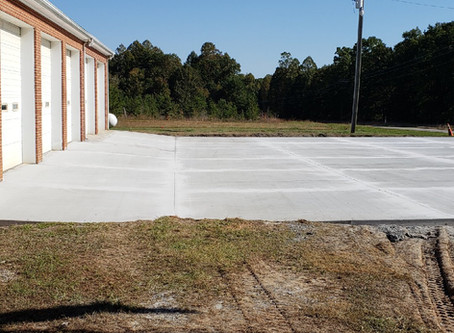 Toga Fire Department Concrete Pad