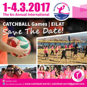 Israel to host the 2017 International Catchball Games in Eilat 1-4 March 2017