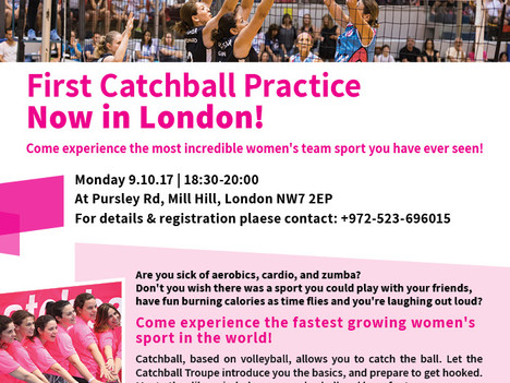 Catchall troupe hits Europe...first practice in London on 9 Oct 2017