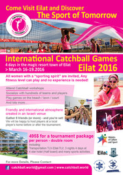 Sign up for the International Catchball games Eilat 2016
