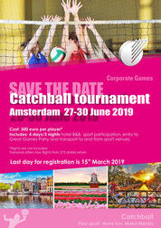 Amsterdam Catchball Games 27-30 June 2019, Corporate Games