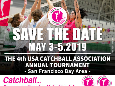 Save the Date: 4th Annual USA Catchball Games, 3-5 May 2-19, San Francisco Bay Area