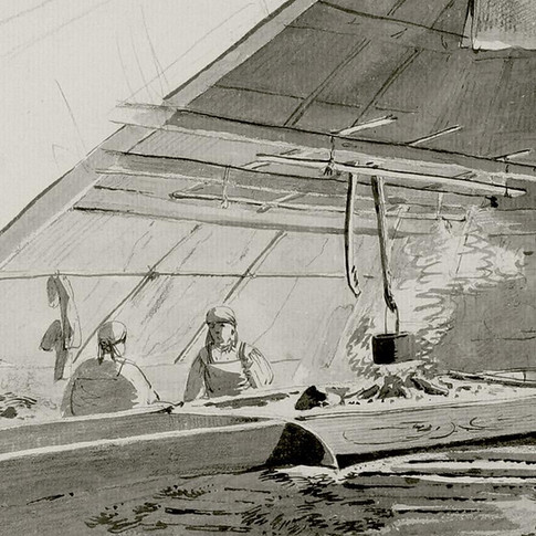 John Webber - Interior of Summer Dwelling - Detail