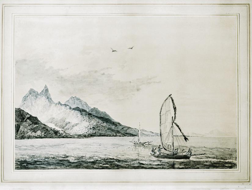 William Hodges, 'Matavai Bay Otaheite', 1774
