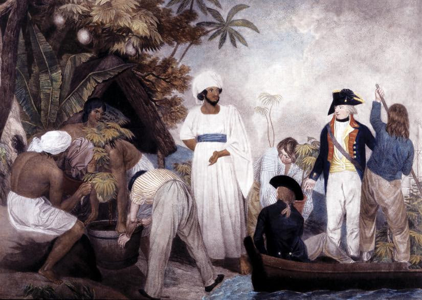Transplanting of the Bread Fruit Trees from Otaheite by Thomas Gosse, 1796