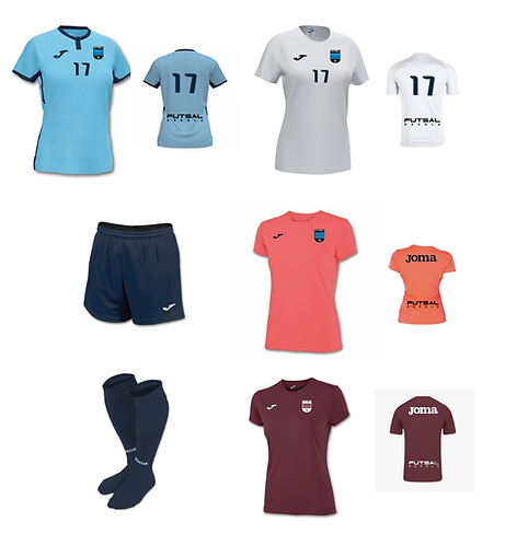 Girls/Women Futsal Escola Required Uniform Package