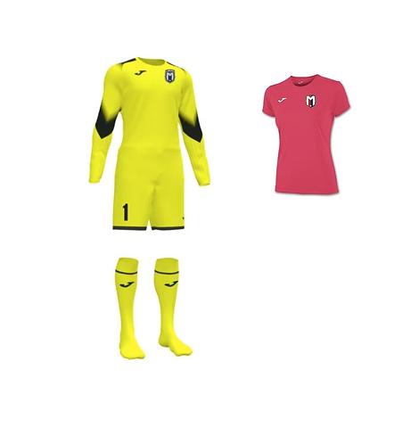 Girls/Women FC Montgomery Keeper Kit Yellow
