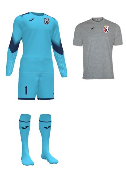 Boys/Men FC Montgomery Goalkeeper Kit Turquoise