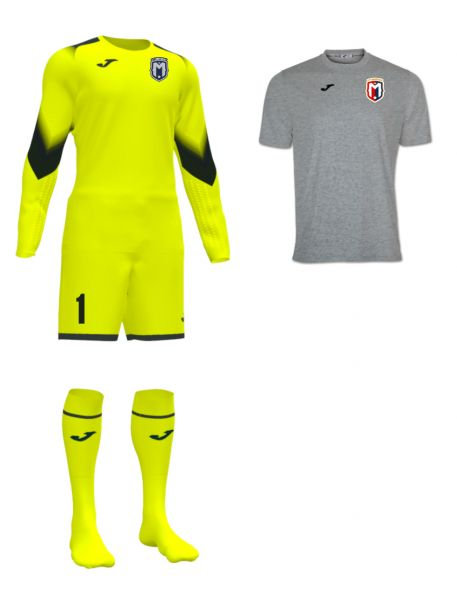 Boys/Men FC Montgomery Goalkeeper Kit Yellow