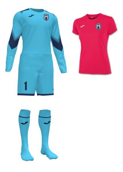 Girls/Women FC Montgomery Goalkeeper Kit Turquoise