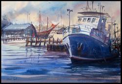 Fishermans boat harbour fremantle