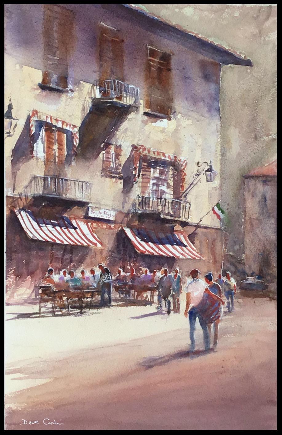 Maccagno cafe scene