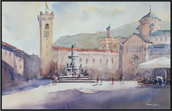 Trentino main square Italy