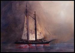 Schoner in the Mist
