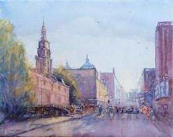 George St Sydney on canvas