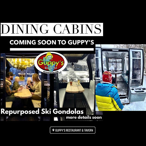 GUPPY'S GONDOLAS COMING SOON BEMUS POINT
