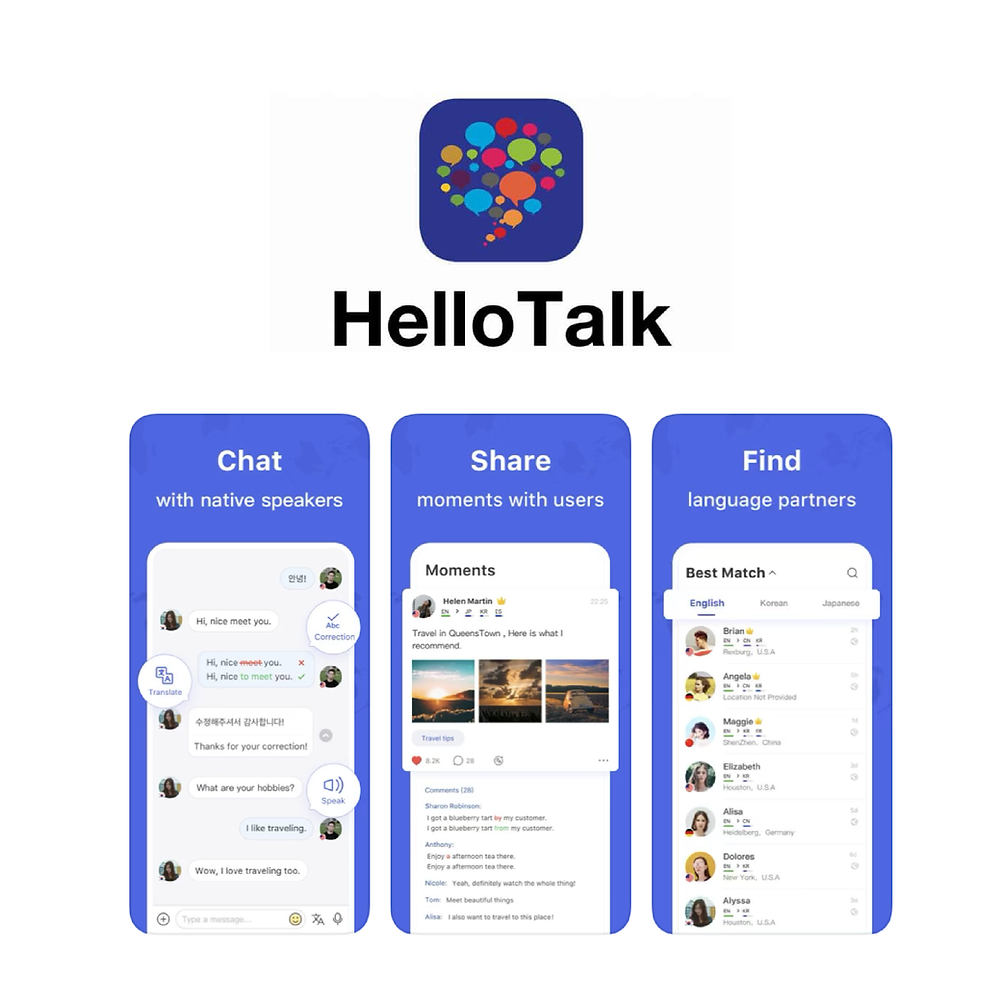 Hello Talk. Apps to Learn Spanish with Natives