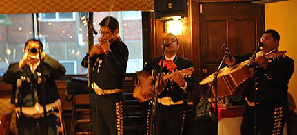 La Hacienda, is one of our favorite places around Boston where you can eat great Mexican food while enjoying a good mariachi, and practice your Spanish while immersing in the Hispanic culture.