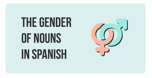 In Spanish, nouns have a gender and a number. That means they are feminine or masculine and singular or plural.