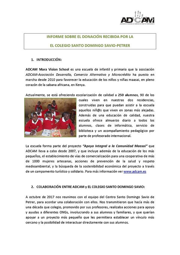 Informe Colegio Santo Domingo-Petrer 201