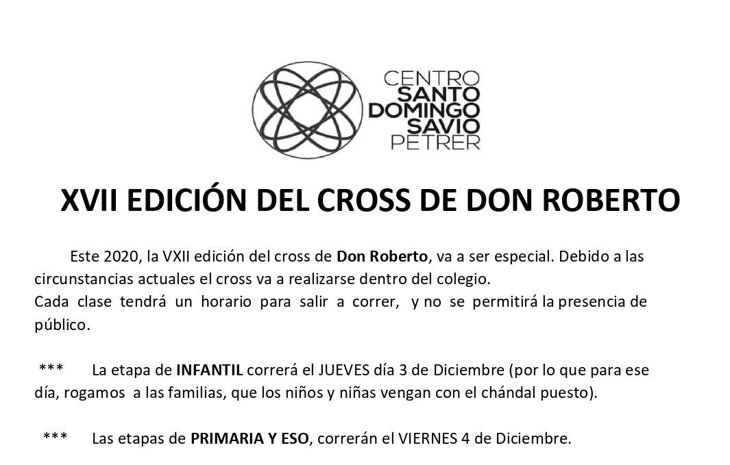 XVII Cross D. Roberto (este año sin público)