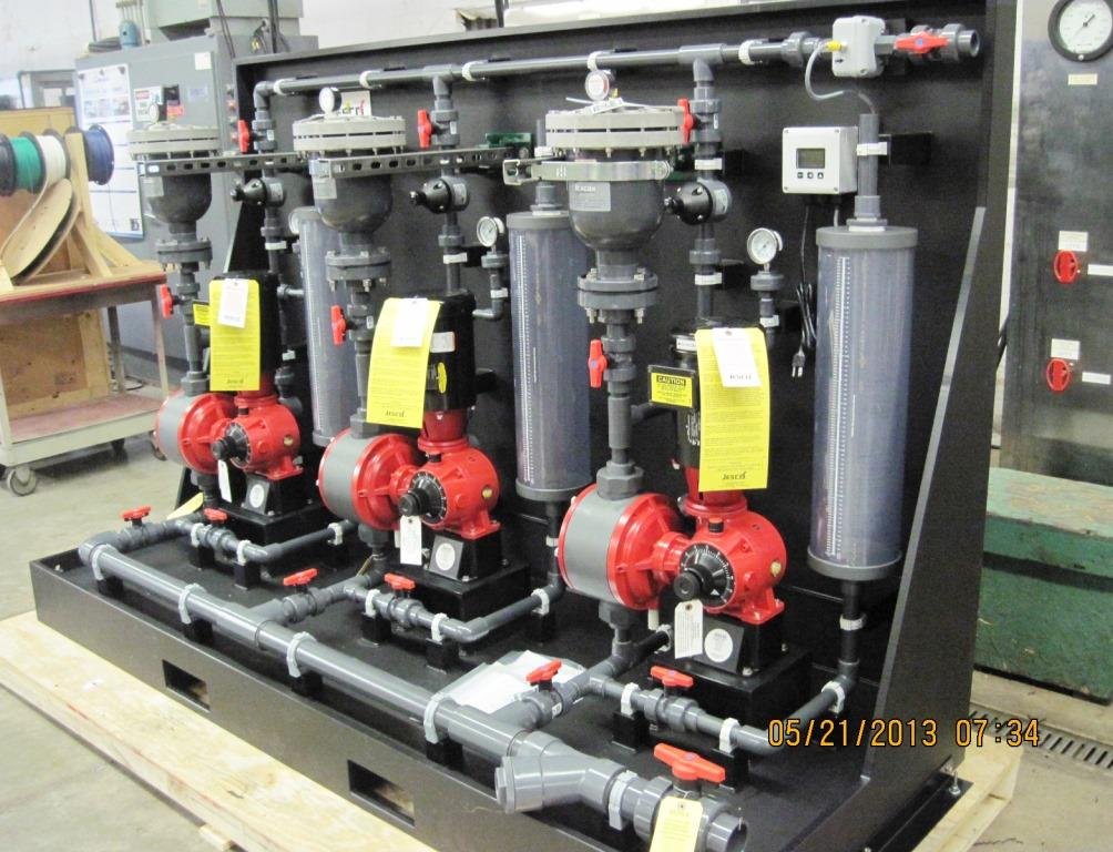 three_pump_chem_feed_system_skid