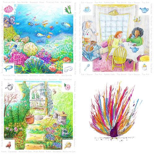 Rainbow Everyday Card Pack x 8