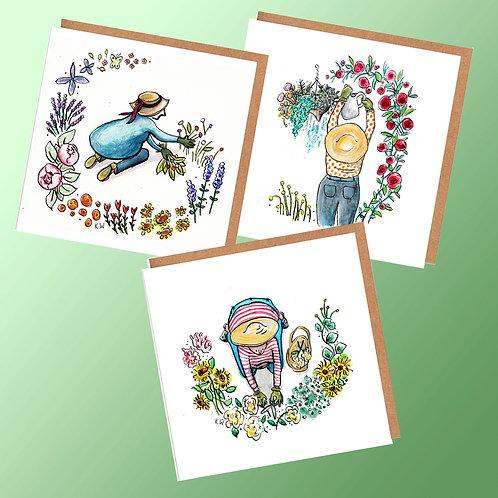 6 Flower gathering cards