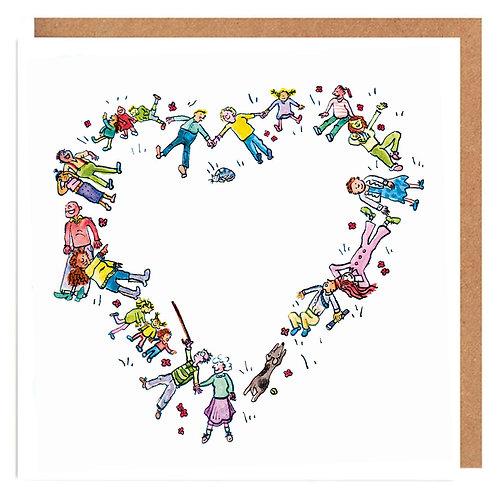 Picnic heart card