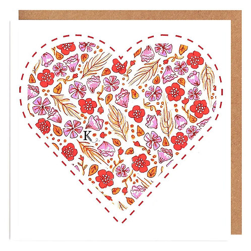 Wild Red Heart card