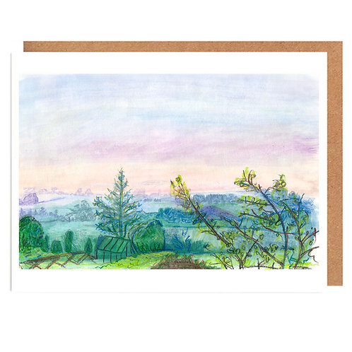 Sunrise Fields card