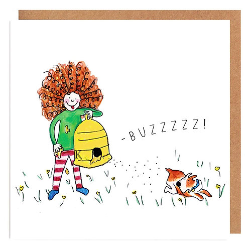 Curly Cath and the Bees card