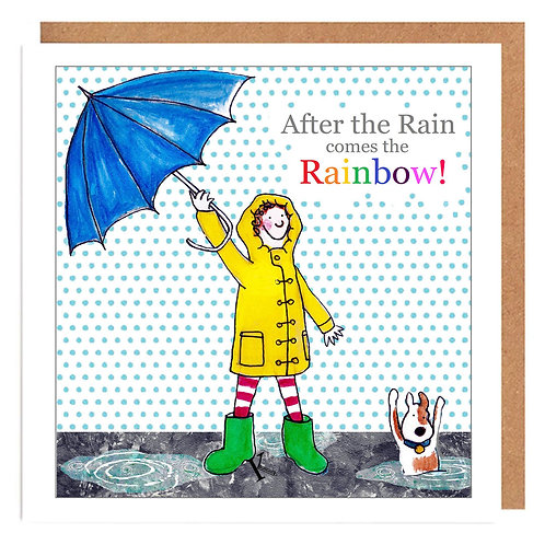 Curly Cath After the Rain comes the Rainbow card
