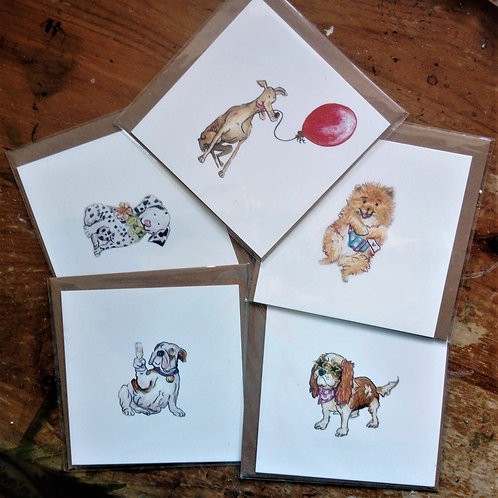 Party Dogs Cards (Blank)