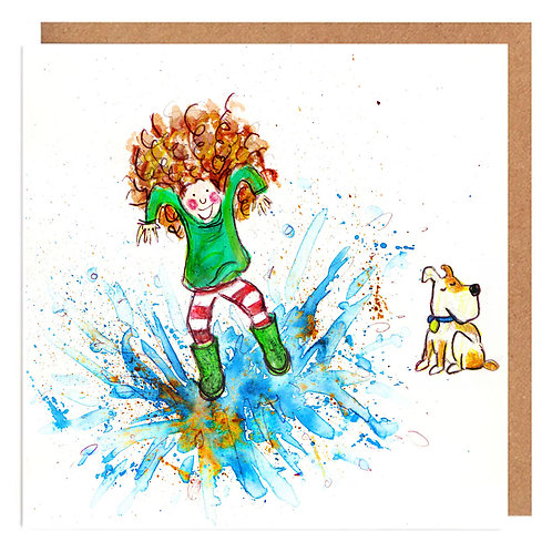 Curly Cath and the Big Splash card