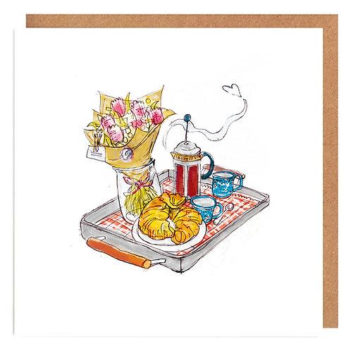 Breakfast Love card