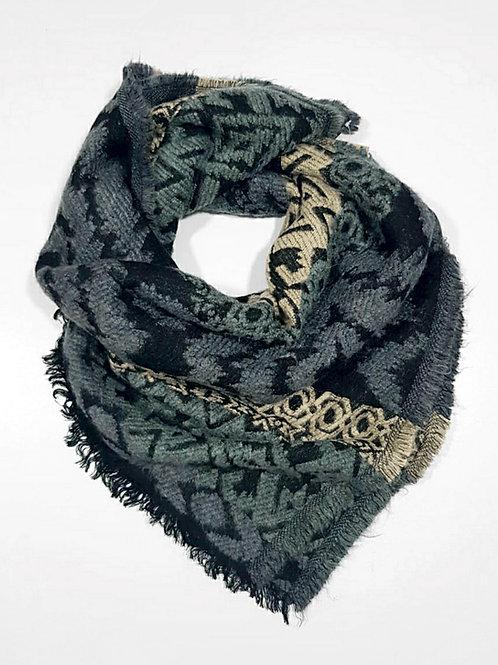 Bufanda de invierno bordada