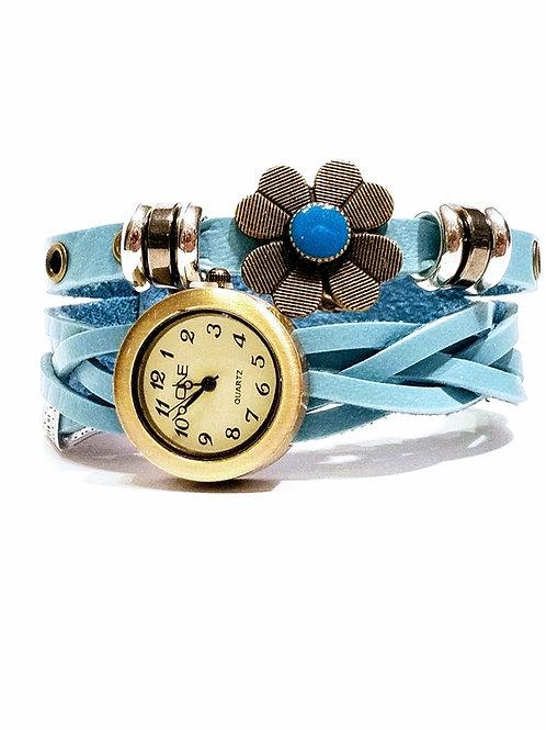 Reloj de cuero trenzado