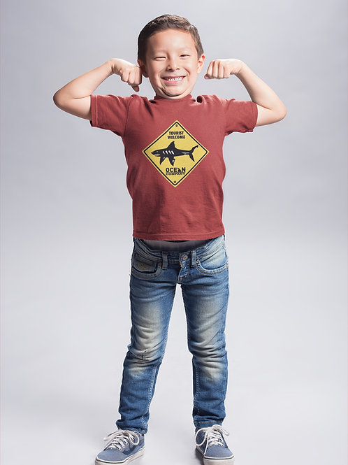 Camiseta Infantil Señal de Tiburones