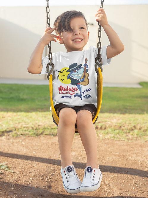 Camiseta Infantil Tiburón Flamenco