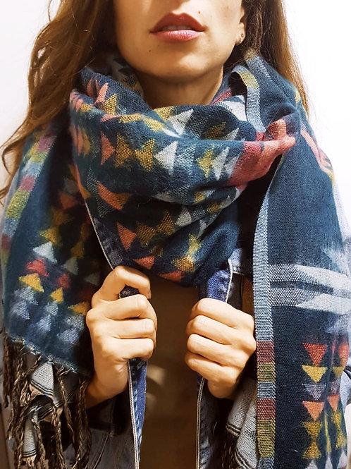 Bufanda de invierno triángulos colores